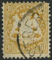BAYERN 35 O, 1875, 10 Kr. Dunkelchromgelb, Wz. 2, Pracht, Gepr. Brettl, Mi. 320.-
