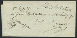 BAYERN Ca. 1815, ZWEYBRÜCKEN, L1 In Schreibschrift Auf Brief Nach St. Wendel, Pracht
