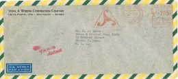 19804. Carta Aerea SAO PAOLO (Brasil) 1968. Via VARIG Airlines - Brasil