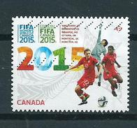 2015 Canada Women's World Cup Football,soccer Used/gebruikt/obliter5