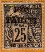 Tahiti 1893 P 27 (manque 1 Dent) Sans Gomme              La Photo Est Celle Du Produit Fourni. - Tahiti