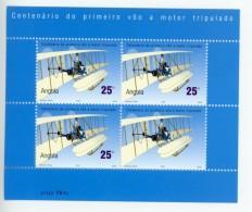 Angola 2003-Avions, Frères Wright-1545-feuillet De 4 Séries