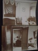 CAMP De CHÂLONS (Marne) - Lot De 2 Photos Authentiques - INTERIEUR D'une Belle DEMEURE De La RUE Du GENIE - 1899 - War, Military