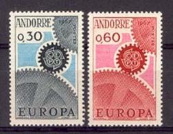 Andorra -Franc 1967 Europa. Y=179-80 E=199-00 S=194-95 SG F199-00