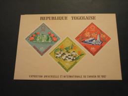 TOGO - BF 1967 ESPOSIZIONE/FIORI  - NUOVI(++)