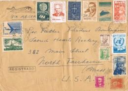 19810. Carta Aerea Certificada BELO HORIZONTE (Brasil) 1960. Espectacular - Brasil