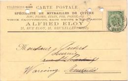Briefkaart - Postkaart - Carte Postale - Pub Reclame Alfred Eloy - Bruxelles à Warcoing  1904 - Postcards [1871-09]