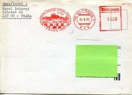 14982 Ceskoslovensko, Red Meter Freistempel EMA, Praha 1990 Sachovy Turnaj,  Chess, Schach, Eches ,circuled Cover