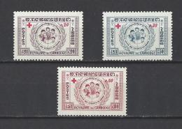 CAMBODGE . YT 81/83  Neuf **  Surtaxe Au Profit De La Croix-Rouge  1959 - Cambodge