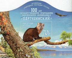 Russia 2016 Mih. 2373 (Bl.146) Fauna. Barguzinsky Biosphere Nature Reserve. Sable. Bird MNH **