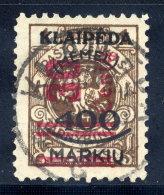 MEMEL 1923 (Nov.) Surcharge 30 C. On 400 Mk. On I L.., Used.  Signed Dr. Petersen BPP.  Michel 232 I - Klaipeda