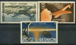 Reunion (1947) PA N 42 à 44 * (charniere) - Réunion (1852-1975)