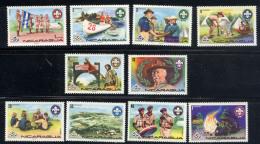 NICARAGUA 1975, 14e JAMBOREE, SCOUTS, 10 Valeurs Neufs / Mint. R503