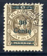 MEMEL (Lithuanian Occupation) 1923 (Dec.) 30 C. On 400 Mk. Used.  Michel 228 I
