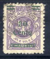 MEMEL (Lithuanian Occupation) 1923 (Dec.) 30 C. On 40 Mk. Used.  Michel 225 I