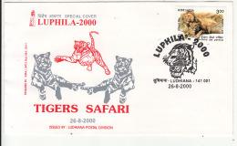 'Tigers Safari' Tiger, Big Cat, Animal, Philately Exhibition LUPHILA 2000 Cover