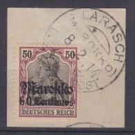 DAP Marokko MiNr. 53 Gest. Briefstück Stempel LARASCH