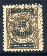 MEMEL (Lithuanian Occupation) 1923 (Dec.) 25 C. On 400 Mk. Used.  Michel 220 I