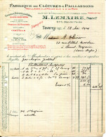 95.TAVERNY.FABRIQUE DE CLOTURES & PAILLASSONS.M.LEMAIRE 275 RUE DE PARIS. - Non Classés