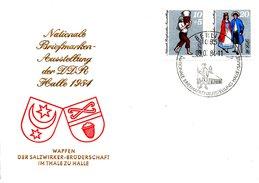 RDA. N°2514-5 De 1984 Sur Enveloppe 1er Jour. Costume De Mariage/Exposition Philatélique.
