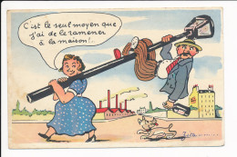 Carte Humoristique  ( Type Jean De Preissac  )    ( Alcool Alcoolisme  )  ( Recto Verso )
