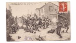 GUERRE 1914- 10° Bataillon De Chasseurs à Pied S'empare à ST Blaise Du Drapeau Du 132° D'infanterie Allemande