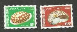 Djibouti N°521, 522 Neufs** Cote 3.10 Euros