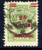 MEMEL (Lithuanian Occupation) 1923 (Dec.) 25 C. On 50 Mk. Used.  Michel 218 I