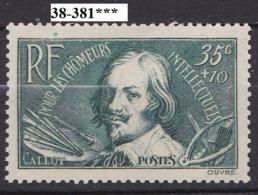 FRANCE ANNEE 1938 N° 381 NEUF***