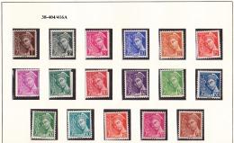 FRANCE ANNEE 1938 N° 404/416A NEUF*** - Unused Stamps