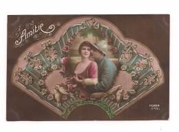 PATRIOTIQUE - COUPLE DANS EVENTAIL - PIGEONS -   FURIA 543/3
