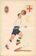 E736 - Cartolina Calcio - Illustratore Magia'- Pro Vercelli