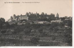 CPA -  LA CITE DE CARCASSONNE - VUE PANORAMIQUE DU SUD OUEST - 24 - T. B. E.