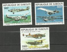 Djibouti POSTE AERIENNE N°130 à 132 Neufs** Cote 18.30 Euros