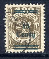 MEMEL (Lithuanian Occupation) 1923 (Dec.) 15 C. On 400 Mk. Used.  Michel 212 I