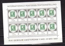 Exposition Philatélique D'Amsterdam, Feuillet  854**, Cote 40 €,