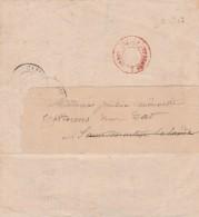 Cachet Rouge PARIS IMPRIMES PP 29 Direction Enregistrement Domaines Bureau CASTELNAUDARY Aude Dates 18 19 20/06/1869 - 1849-1876: Classic Period