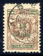 MEMEL (Lithuanian Occupation) 1923 (Dec.) 15 C. On 10 Mk.,  Used.  Michel 206 I