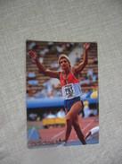 Athlétisme Autographe- Carte Signée Christian Plaziat - Atletica