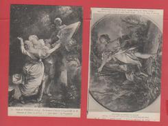 ET/79 MUSEE DE TOURS  SERMENT D AMOUR / SYLVIA FUYANT LE LOUP / PORTRAIT Melle PREVOST 3 CARTES POSTALES / RECTO VERSO