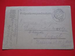 Correspondence Card /K.u.K.Feldpostamt-K.u.K Feld Jager Bataillon Nr.6-Trebinje To Zagreb 1917.