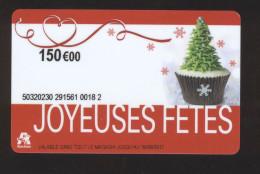Carte Cadeau Auchan -JOYEUSES FETES - 150 € - Cartes Cadeaux