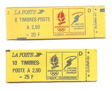 1991 Jeux Olympiques Albertville :2 Carnets D (10 Et 8 Timbrescourants)