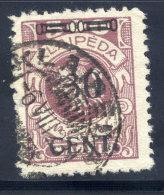 MEMEL (Lithuanian Occupation) 1923 (16. May) 30 C. On 500 Mk.,  Type Ie Used.  Michel 175 I E - Klaipeda