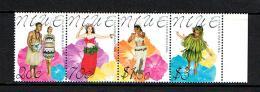 Niue 2000  Sc # 752a-d  MNH **  Dancers