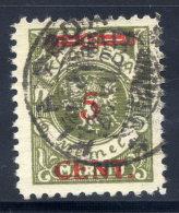 MEMEL (Lithuanian Occupation) 1923 (16. Apr.) 5 C. On 300 Mk.,  Type II Used.  Michel 174 II - Klaipeda