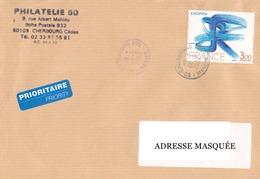 Lettre Prioritaire Voyagée De Cherbourg Pour La Suisse Le 24/05/2000 Tp  Excoffon Y&T N° 1951 Superbe Exc 2470 - Cartas