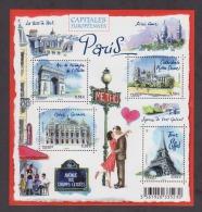 FRANCE / 2010 / Y&T N° 4514/4517 En Bloc ** Ou F4514 ** : BF Capitales : Paris - Gomme D´origine Intacte