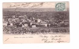 Syrie Damas Vue Prise De Salhiké + Timbre Du Levant Cachet Syrie 1909 à Destination De La France