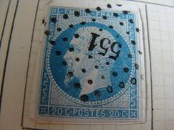 11 NAPOLEON N°14 OBLITERATIONS P/C551/596